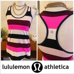 Lululemon Cool Racerback Striped Tank Top